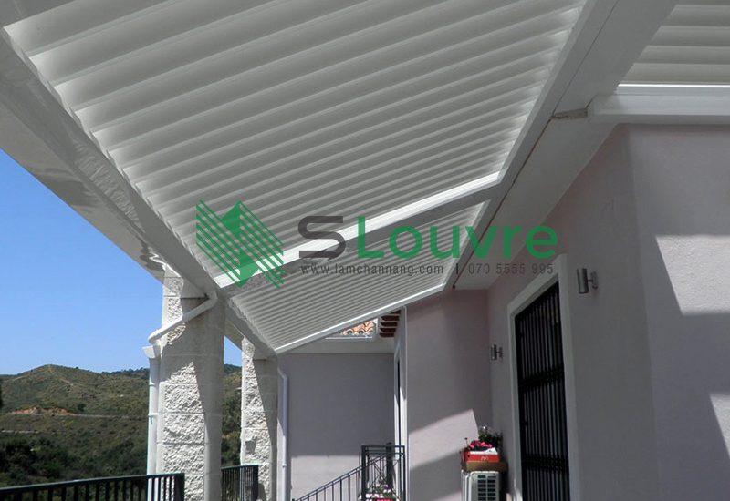 lam che nắng, lam nhôm, sun louvre, aluminium louvre, chắn nắng sân thượng, che nắng sân thượng, lam nhôm sân thượng, terrace louvre