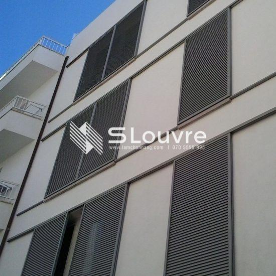 decorative aluminium louvre, aluminium Cladding Panels, aluminium cladding, aluminium louvre facade, aluminium louver facade, facade panel, curtain wall, Facade Architecture, mặt dựng lam nhôm, vách dựng lam nhôm, mặt dựng, vách dựng Facade