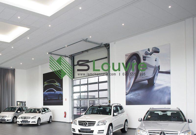 trần nhôm showroom, trần nhôm cửa hàng, trần nhôm shop, aluminium ceiling showroom, metal ceiling showroom